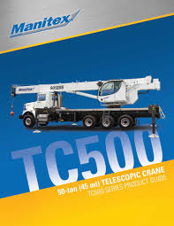Manitex Tc500 Telescopic Crane