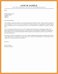Dental Assistant Cover Letter No Experience 3 4 Medical Assistant