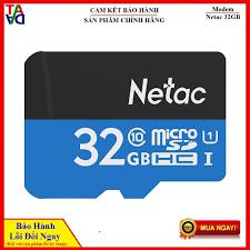 Thẻ nhớ Micro SD NETAC 32GB Class 10 - Bảo hành 5 năm - Chính Hãng VINAGO