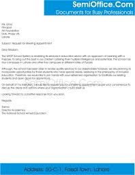 How To Write Appointment Letter Request For Meeting Appointment Sample Letter