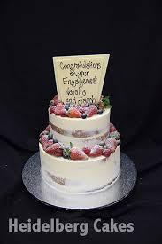 Engagement 1 Semi Naked 2 Tier Heidelberg Cakes