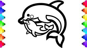 Dolphins are aquatic mammals belonging to the order cetacea, ranging between 5.6 feet to 31 feet in size. Coloring Pages Marine Wild Animals Mother Dolphin With Her Baby Vector Barbie Magic Miami Dolphins To Print For Kids Free Printable Pictures And Oguchionyewu