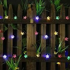 amazing garden lighting flower. 50 LED Solar Garden Lights Outdoor String Flower Bulbs  Christmas Decorations Multi Color Amazing Garden Lighting Flower