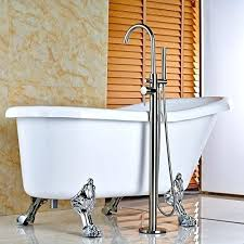 home bathtub faucets shower faucet three handle set new chrome polished floor mounted free standing