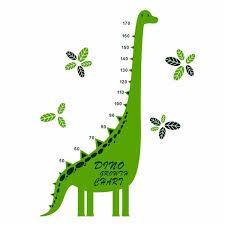 Growth Chart Wall Decal Cartoon Dinosaur Height Chart Wall