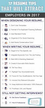 Fonts For Resume 100 Resume Tips That Will Attract Employers In 20100 Infographic 79