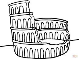 Colosseum Ruïne Kleurplaat Gratis Kleurplaten Printen