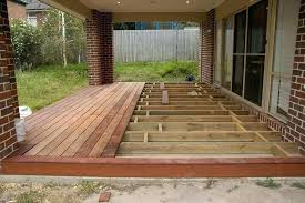 floating deck over concrete patio phenomenal building