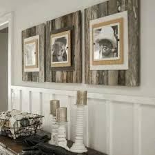 Day Eco-Friendly Home Decor Piece: Reclaimed Pallet Wood Picture Frames.  Use pallets or reclaimed wood to make these extra large frames x with a  burlap ...