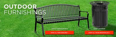Outdoor mercial Furnishings & Furniture Benches Tables for
