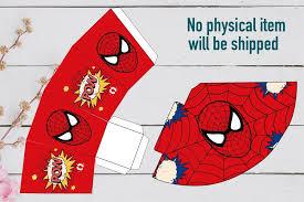 Spiderman Template Spiderman Birthday Party Superhero Invitation Set Template