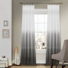 gray ombre embroidery curtain panel