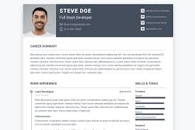 Software Developer Resume Samples Top 3 Free Software Developer Resume Cv Templates Html5