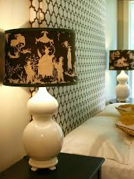 Patterned Lampshades Cool Custom FabricCovered Lampshade HGTV