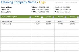 Microsoft Word Price List Design Price List Template