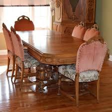 walnut dining table set vintage walnut dining table set by he adaline walnut extendable dining table