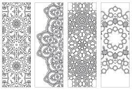 Bookmark Coloring Pages Bookmark Coloring Pages New Intricate Mandala Coloring