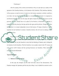 Example Of Franchise Have I Got A Franchise For You Term Paper Example Topics