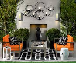 Lawn & Garden:Impressive Garden Wall Art From Cast Iron Fascinating Orange  Outdoor Garden Art