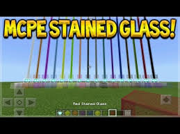 mcpe stained glass minecraft pocket
