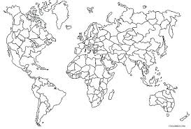 World Map Coloring Pages Coloring World Map Online