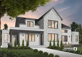 modern farmhouse house plan floor plans