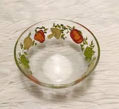 arcoroc france vegetables pepper mushroom onion tomato 5 small glass bowl