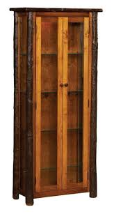 rustic curio cabinet. Perfect Rustic Amish Rustic Hickory Curio Cabinet With Doors Inside