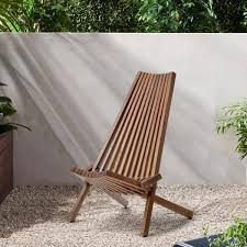 Constructed of metal and wood. Mondawe Outdoor Rustic Folding Low Profile Ergonomic High Slanted Back Acacia Wood Chair Relaxing Reading Ly W286 The Home Depot