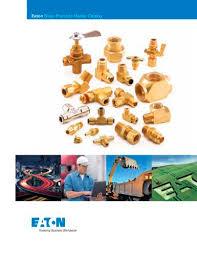 Weatherhead Hydraulic Fittings Chart Eaton Brass Products Master Catalog Eaton Hydraulics Pdf