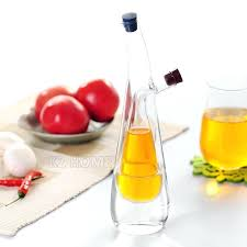 oil and vinegar cruet two in one oil vinegar cruet kitchen glass oil dispenser fashion design olive oil bottle kitchen with stopper three shapes in gravy