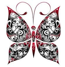 Plakát Tetování Motýl
