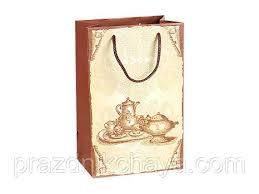 <b>Пакет подарочный</b> малый <b>Чайный сервиз</b> 23*15 см: продажа ...