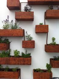 timber planter vertical herb garden