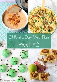 weight watchers meal plan for 23