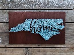 North Carolina Home String and Nail Art by stringandnail0 on Etsy ...