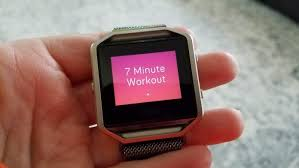 7 minute workout on the fitbit blaze