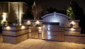 Outdoor Bbq Kitchen Outdoor Bbq Kitchens Entrancing Outdoor Kitchen Bar Lighting