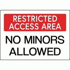 Area Safetycal Sign Restricted Minors - Allowed Inc Dispensary No Access