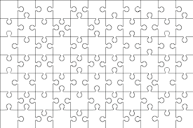 Giant Blank Puzzle Pieces Invitation Templates Of Piece Coloring