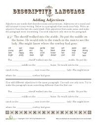 time to saddle up some adjectives descriptive language adds  time to saddle up some adjectives descriptive language adds interest to writing for fifth graders