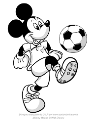 Bello Disegno Topolino Di Che Palleggia Con Un Pallone Da Calcio