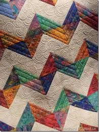 Best 25+ Chevron baby quilts ideas on Pinterest | Chevron quilt ... & Quilting: Chevron Baby Quilt Beautiful spiral quilting, I need to try that. Adamdwight.com