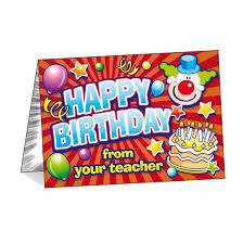 Teachers Birthday Card Birthday Cards Happy Birthday From Your Teacher