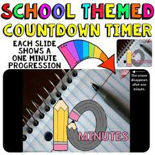 Ten Minutes Countdown Timer Countdown 10 Minutes Or Less Pencil Theme For Back To School