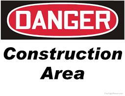 Printable Construction Signs Printable Danger Construction Area Sign