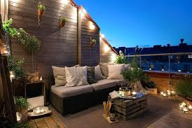 balcony lighting ideas. Balcony Lighting Ideas Decorating With Wood Table And Cushion . I