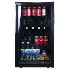 sia dc1bl 126l glass door black under counter beer drinks fridge wine cooler