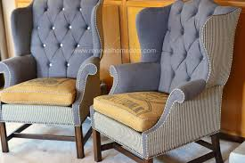 upholstered wingback chair. Interesting Wingback Vintage Upholstered Wing Back Chair 110000 Via Etsy In Wingback Chair E
