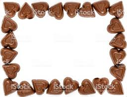 chocolate candy borders. Plain Borders Valentines Day Chocolate Heart Border Royaltyfree Stock Photo In Candy Borders